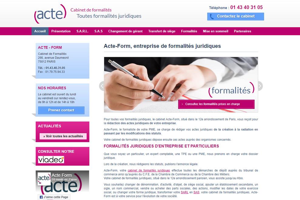 Acte-form,formalitésjuridiques