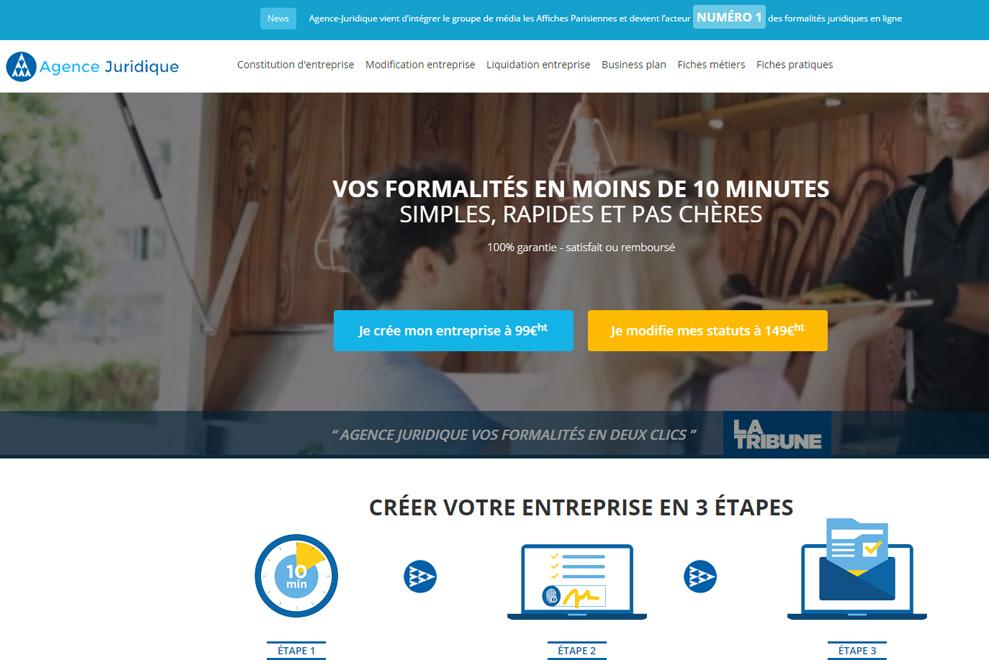Agence-Juridique, formalités juridiques en ligne
