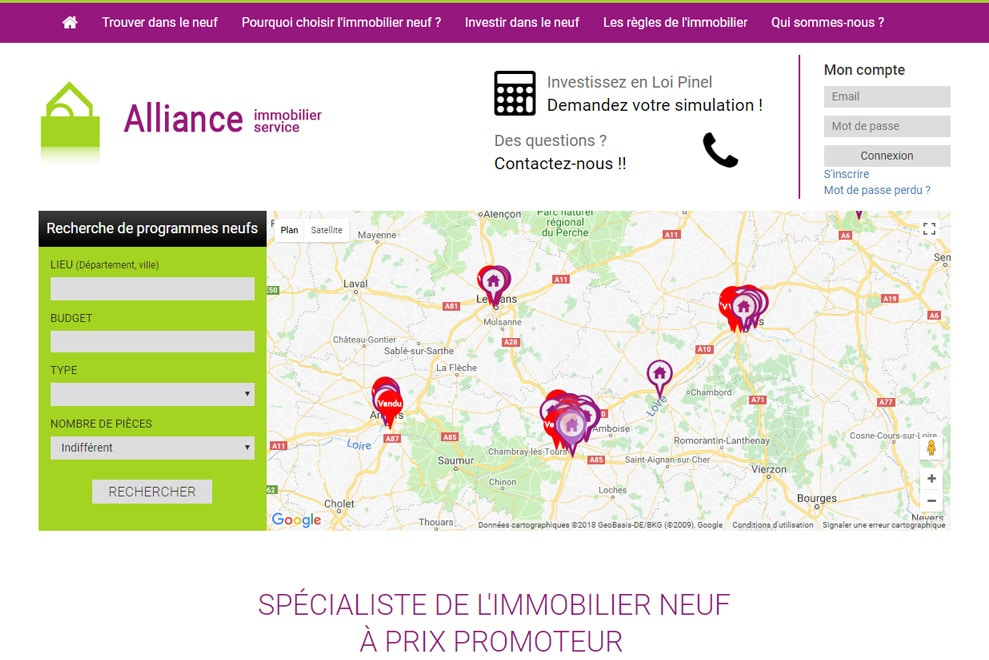 Alliance Immobilier Service, immobilier neuf