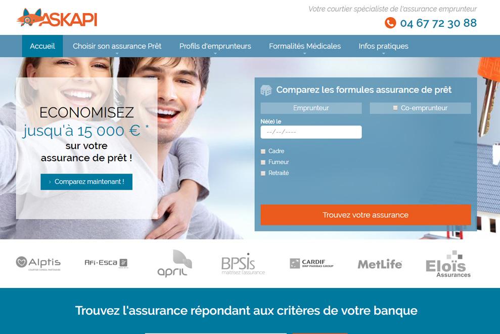 Askapi, comparateur assurances de prêt