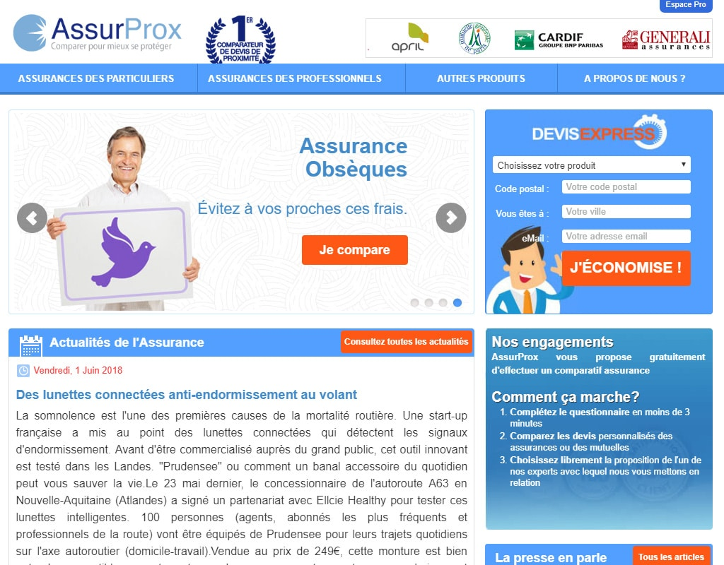 AssurProx, comparateur d'assurances