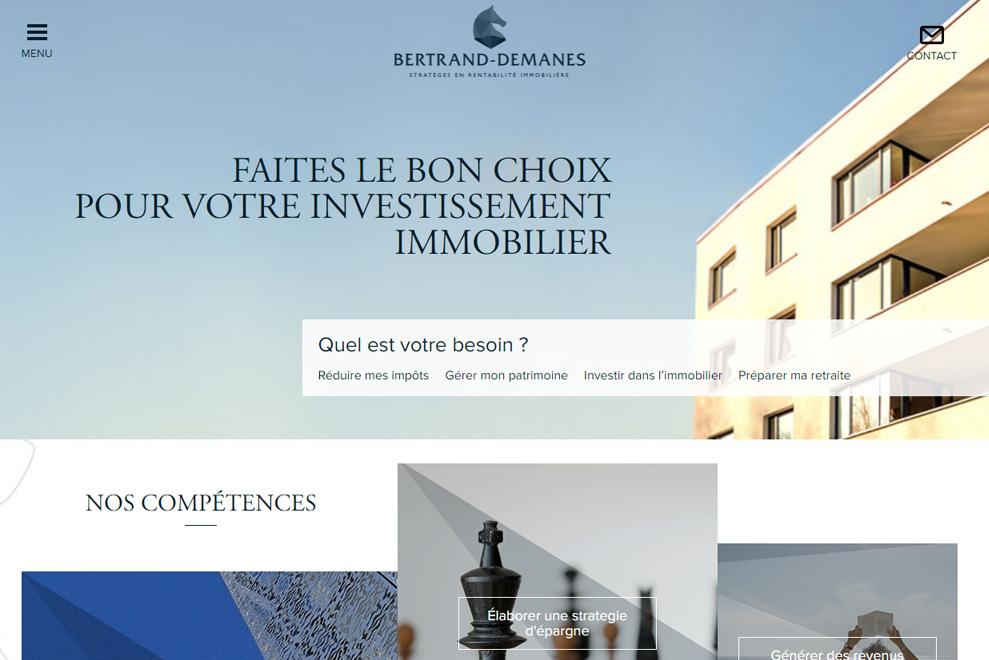 Bertrand-Demanes, gestion de patrimoine