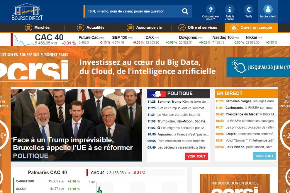 Bourse Direct, cotation et actualités boursières