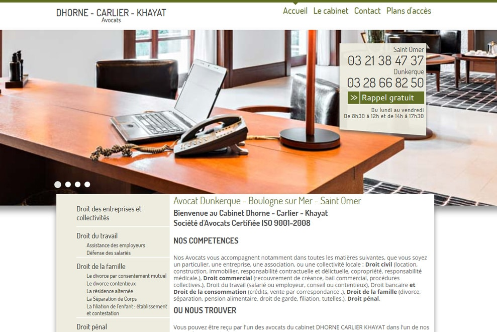 Cabinet Dhorne-Carlier-Khayat, avocats multidisciplinaire