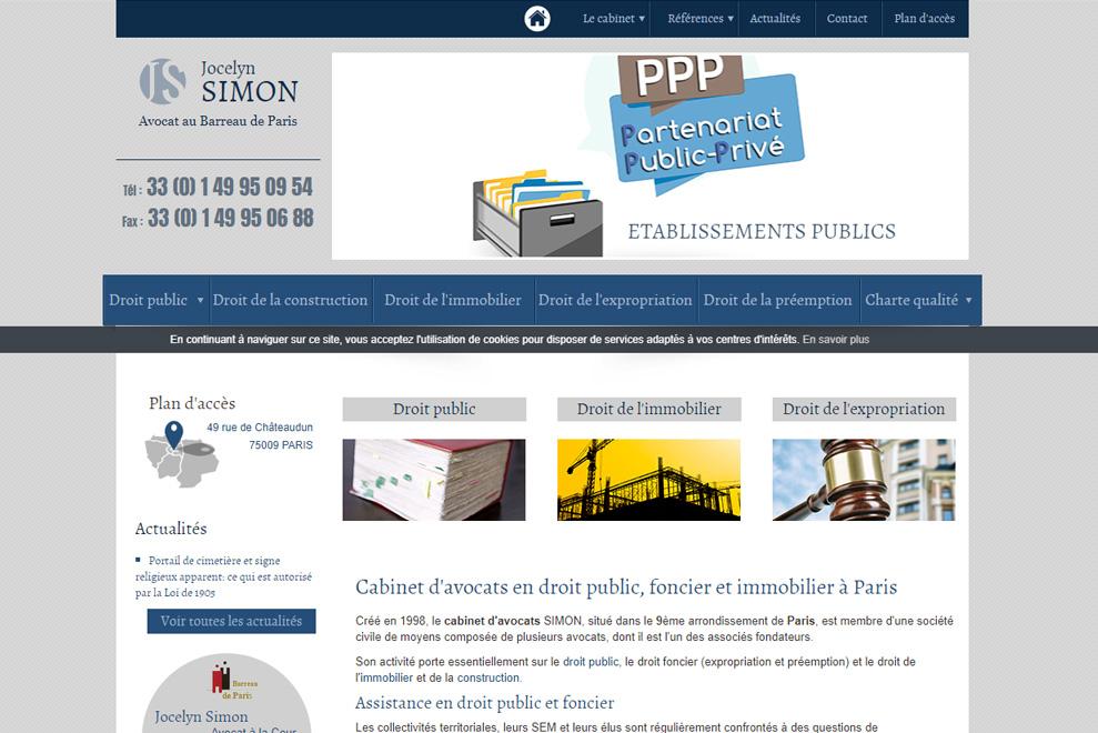 Cabinet Jocelyn Simon :avocats droit public