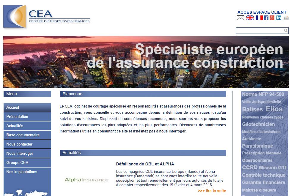 CEA, assurances des professionnels de la construction