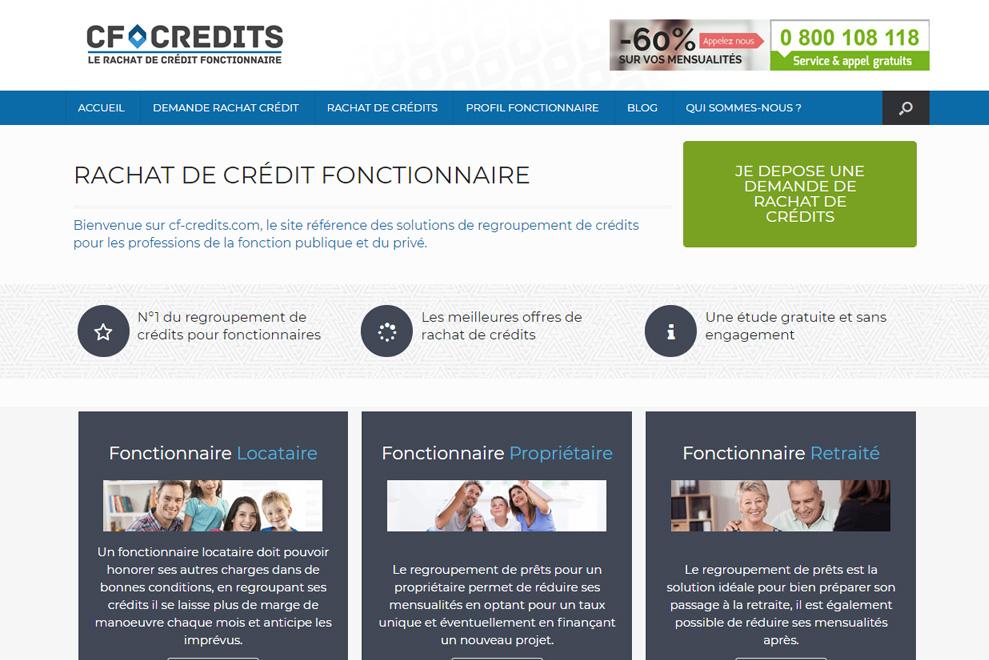 CF Crédits, rachat de crédits fonctionnaires