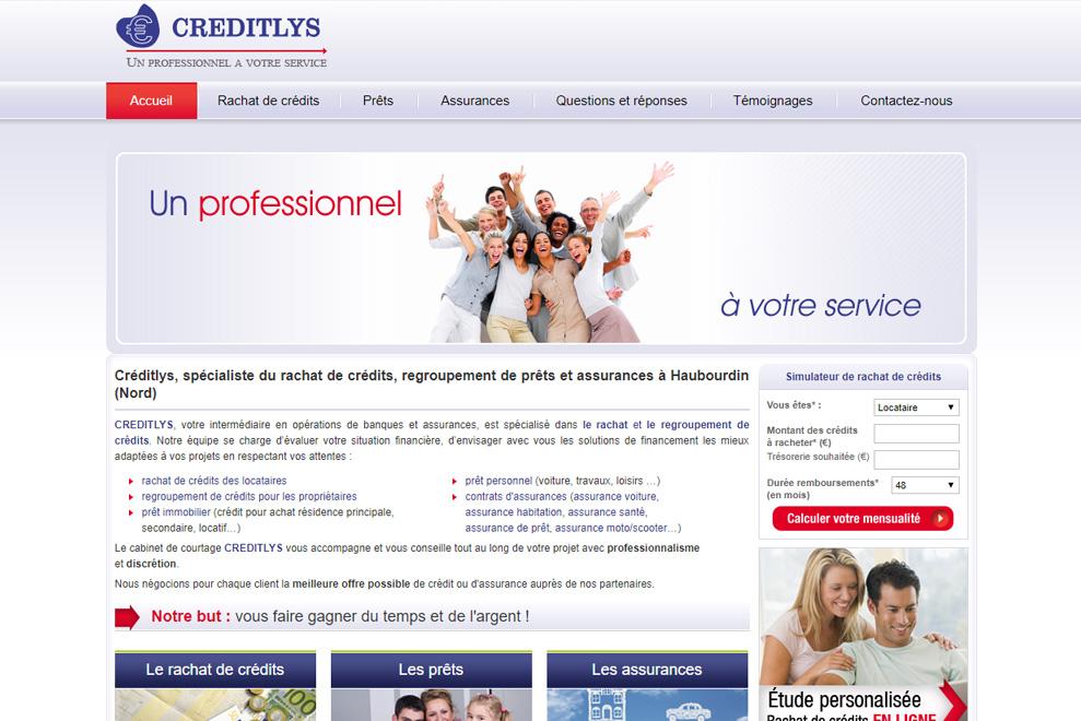 Creditlys, courtier en crédits