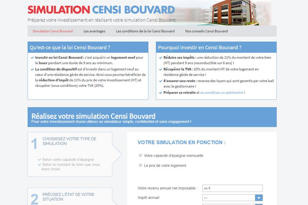 E-tematik, simulation Censi-Bouvard