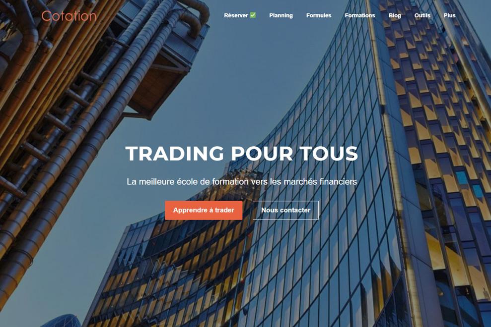 École Cotation, formation au trading