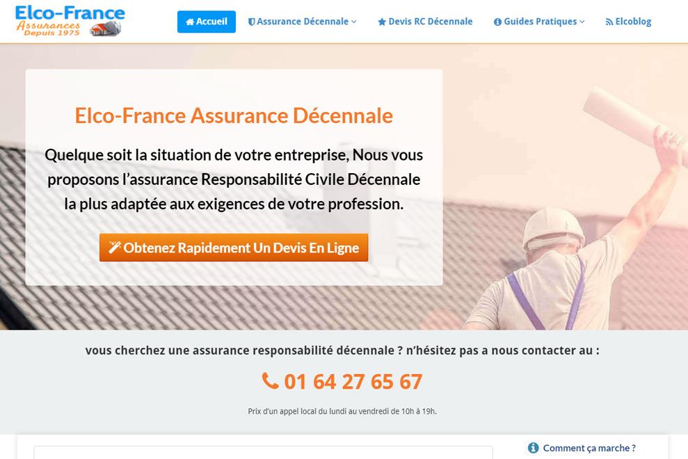 Elco-France, assurance décennale