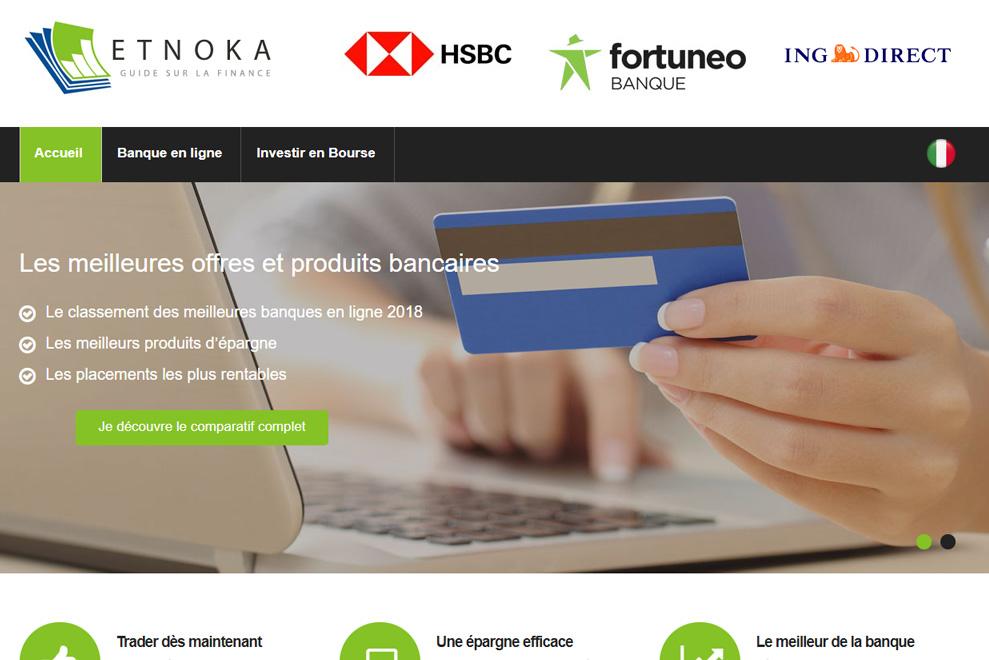 Etnoka, comparatif banques en ligne