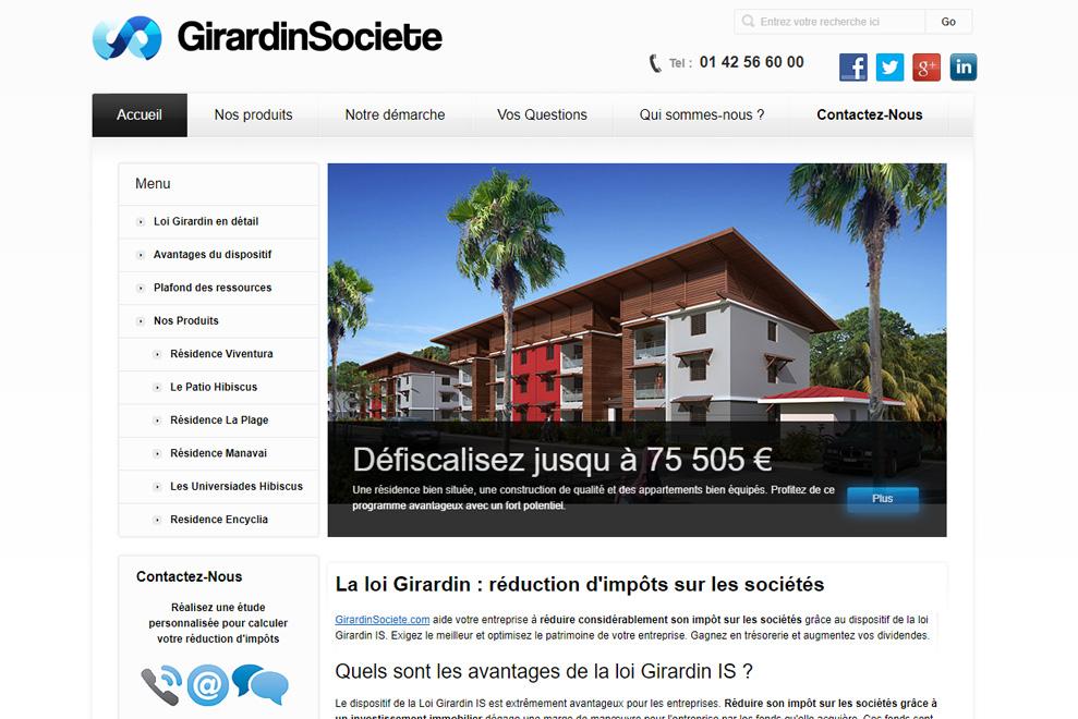 GirardinSociete, défiscalisation immobilière