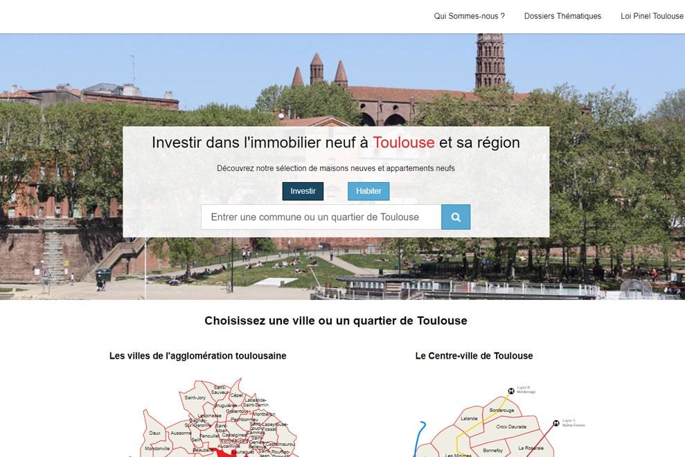 Immobilier Neuf Toulouse, défiscalisation