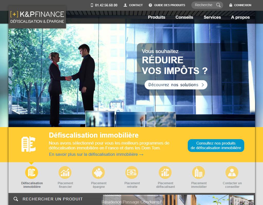 K&P Finance, défiscalisation et placements financiers