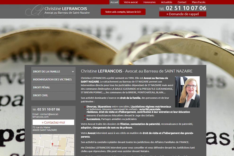 Maître C. Lefrancois, avocat divorce