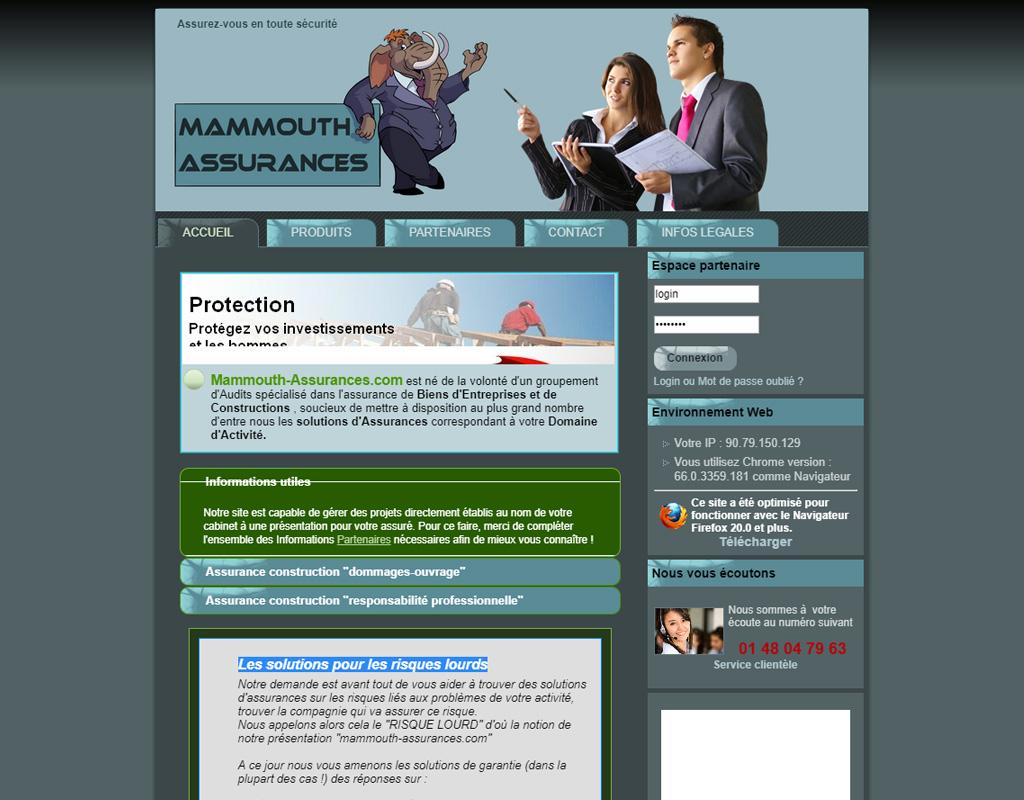 Mammouth Assurances, solutions d'assurances