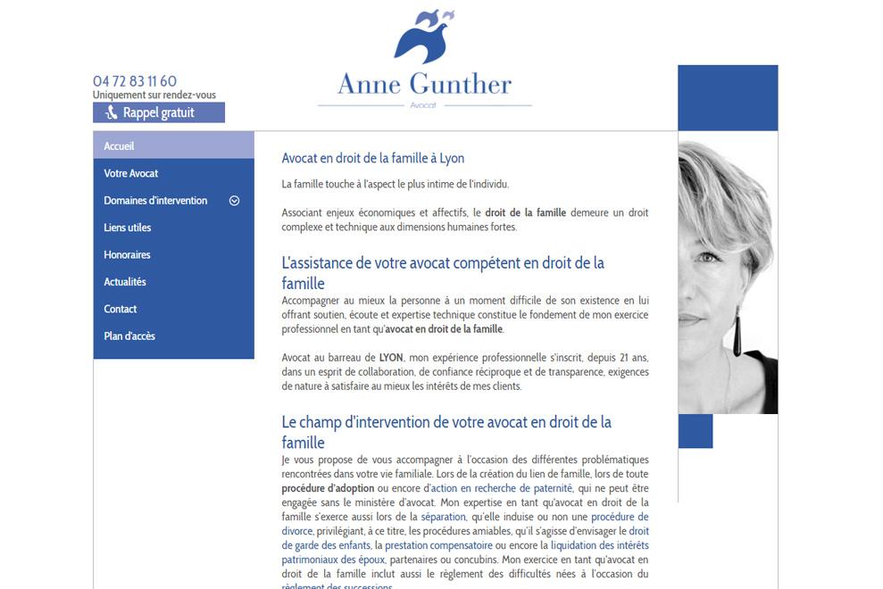 Me Anne Gunther, avocat droit de la famille