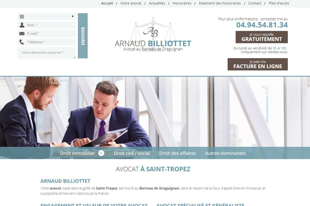 Me Arnaud Billiottet, avocat droit immobilier