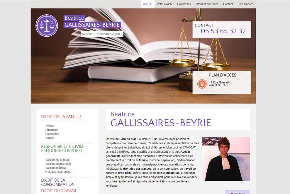 Me Béatrice Gallissaires-Beyrie, avocatdroit de la famille