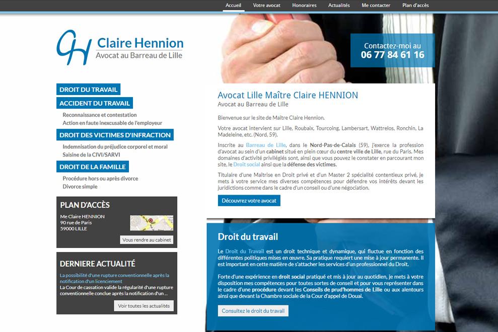 Me Claire Hennion, avocat droit du travail