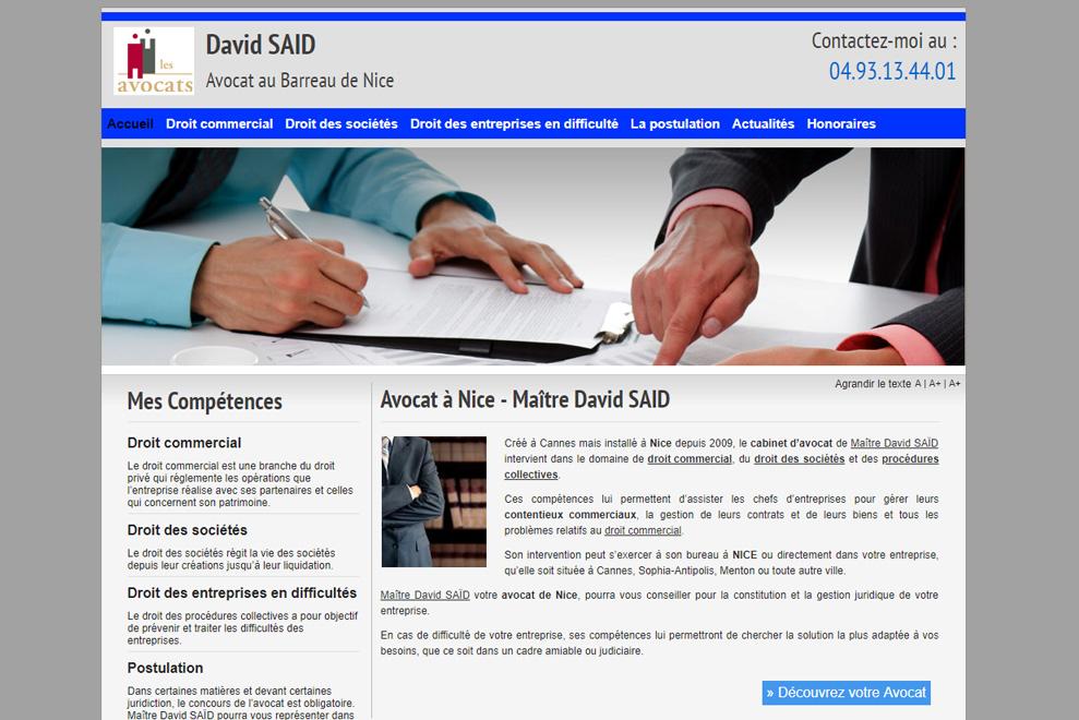 Me David Saïd, avocat droit commercial