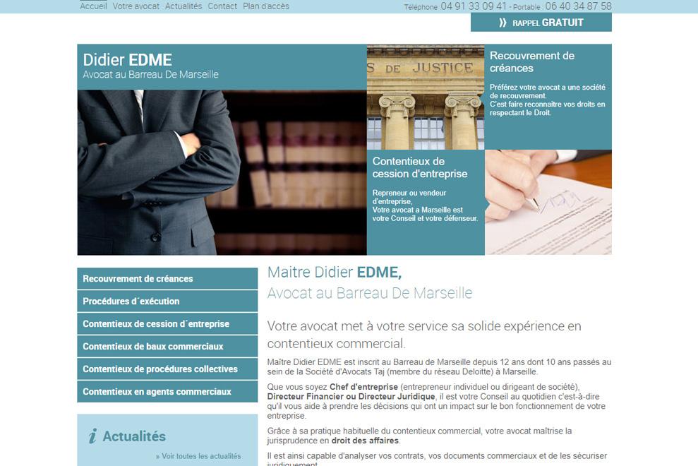 Me Didier Edme : avocat contentieux