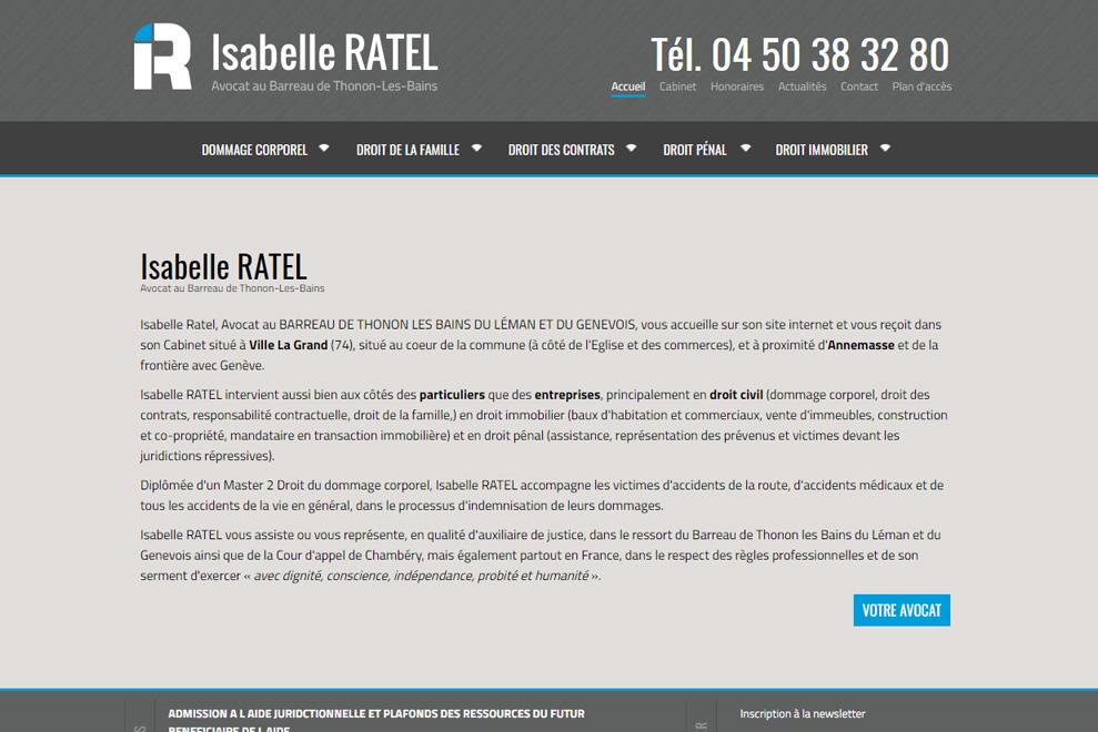 Me Isabelle Ratel, avocat droit immobilier
