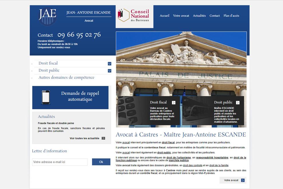 Me Jean-Antoine Escande, avocat droit fiscal