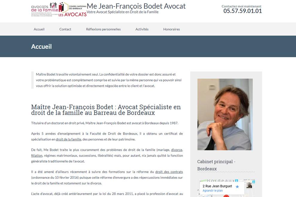 Me Jean-François Bodet, avocat droit de la famille