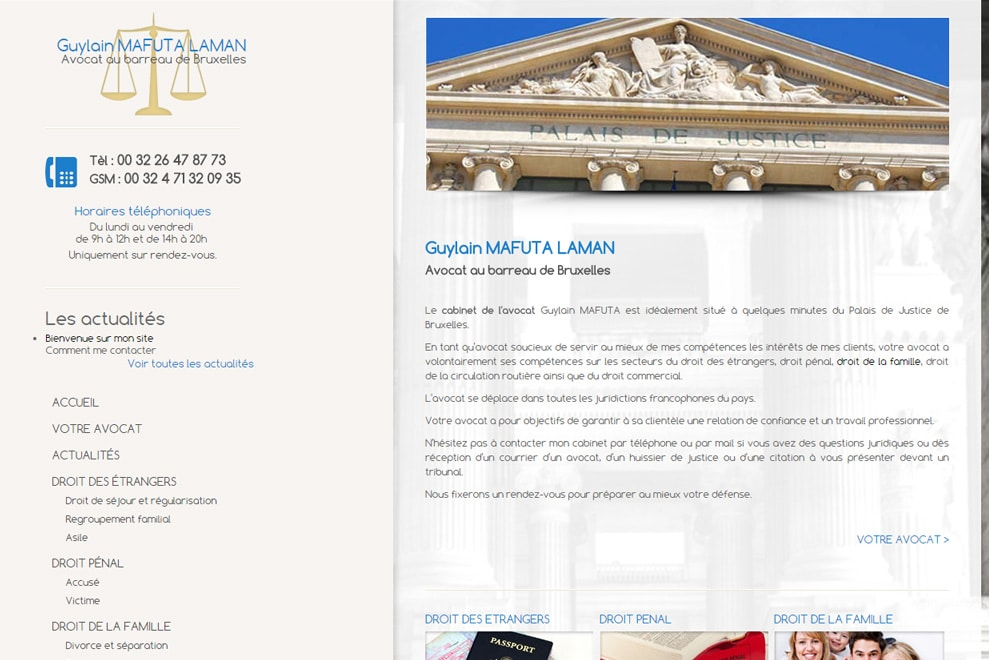 Me Mafuta Laman, avocat droit des étrangers
