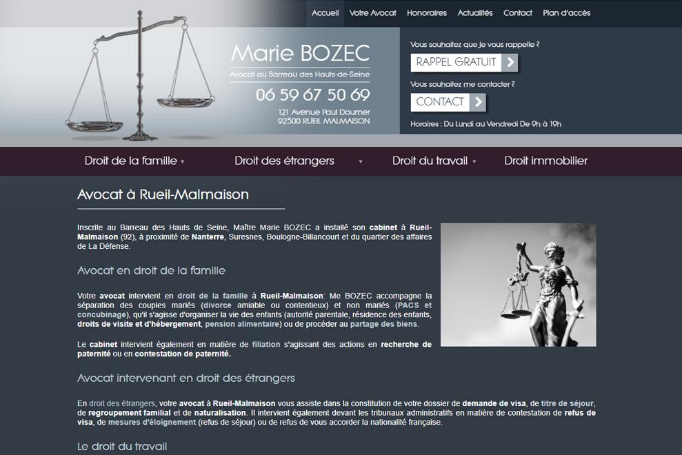 Me Marie Bozec, avocat droit de la famille