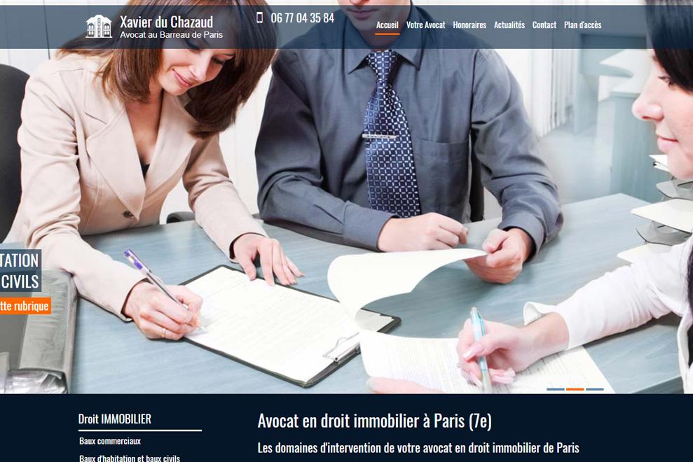 Me Xavier du Chazaud,avocat en droit de la construction