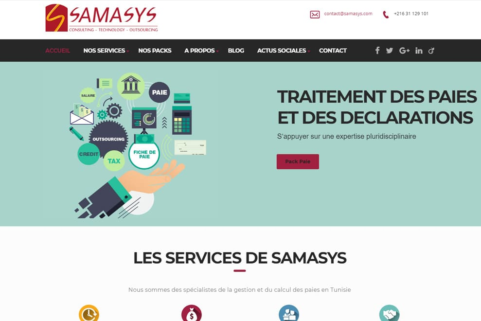 Samasys, gestion des paies