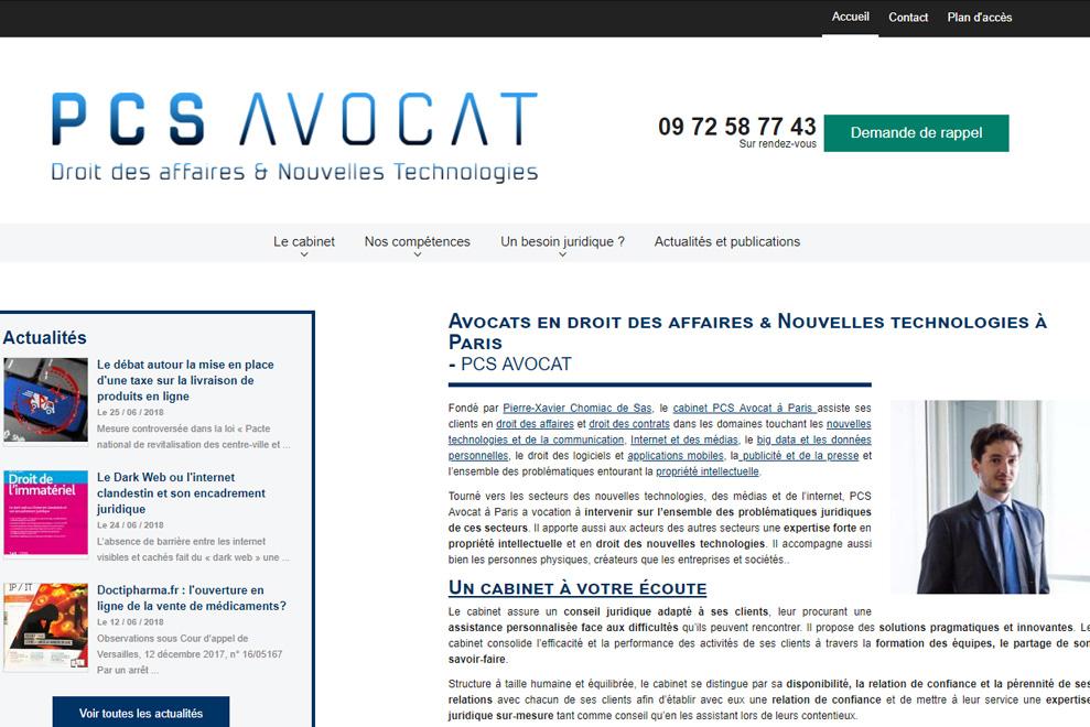 Cabinet PCS, avocats nouvelles technologies