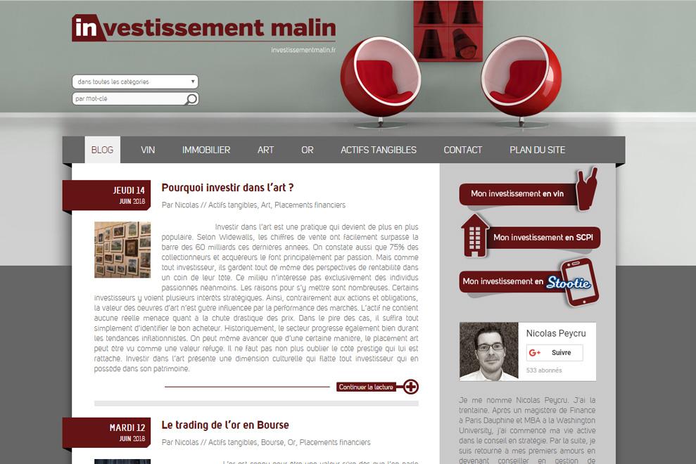 Investissement Malin : conseil en investissements