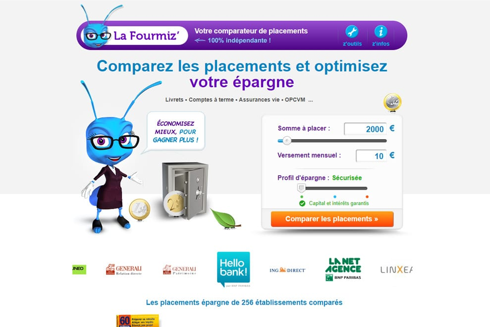LaFourmiz, comparateur de placements