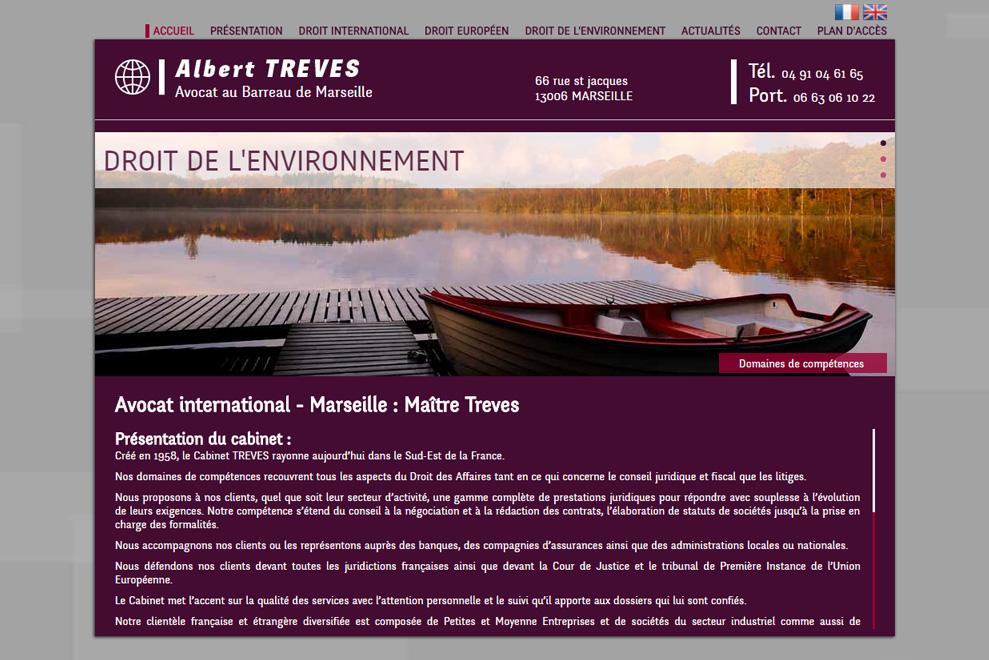 Me Albert Treves, avocat droit international