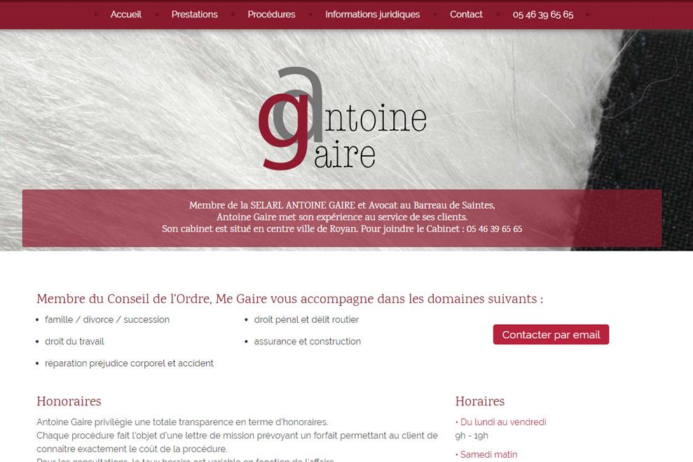 Me Antoine Gaire,avocat droit privé