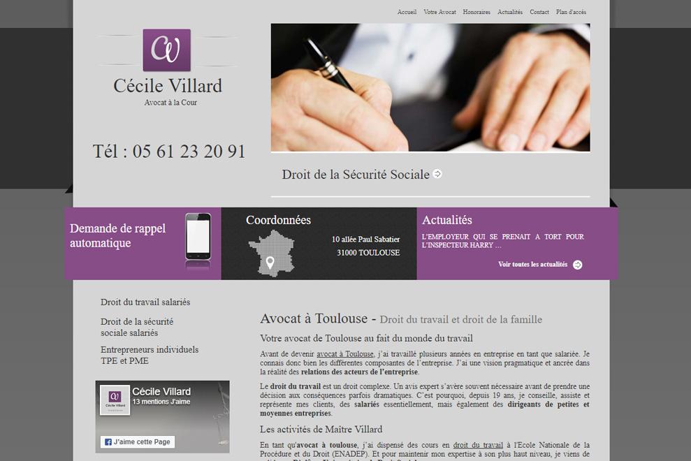 Me Cécile Villard, avocat droit social