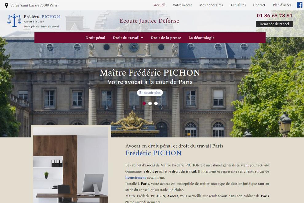 Me Frédéric Pichon, avocat droit du travail