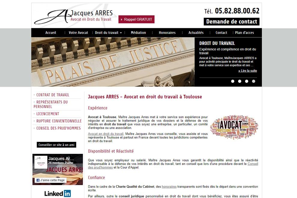 Me Jacques Arres, avocat droit du travail