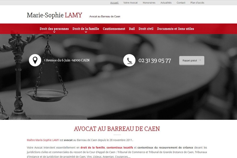 Me Marie-Sophie Lamy, avocat droit familial