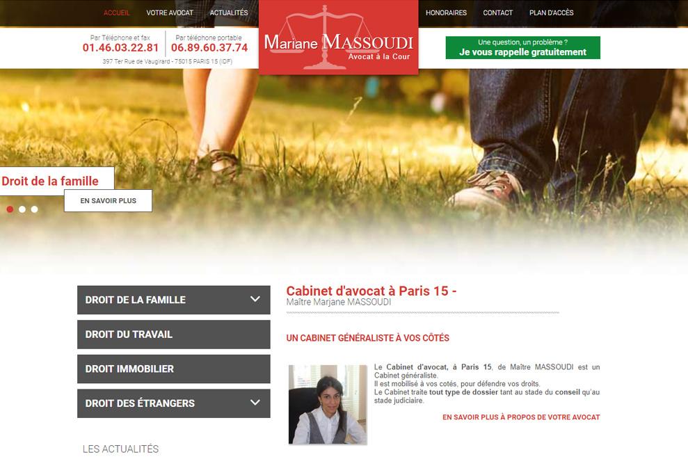 Me Marjane Massoudi, avocat généraliste