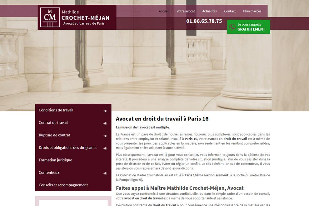 Me Mathilde Crochet-Méjan, avocat droit social