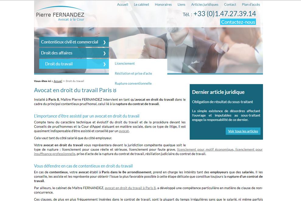 Me Pierre Fernandez, avocat droit du travail