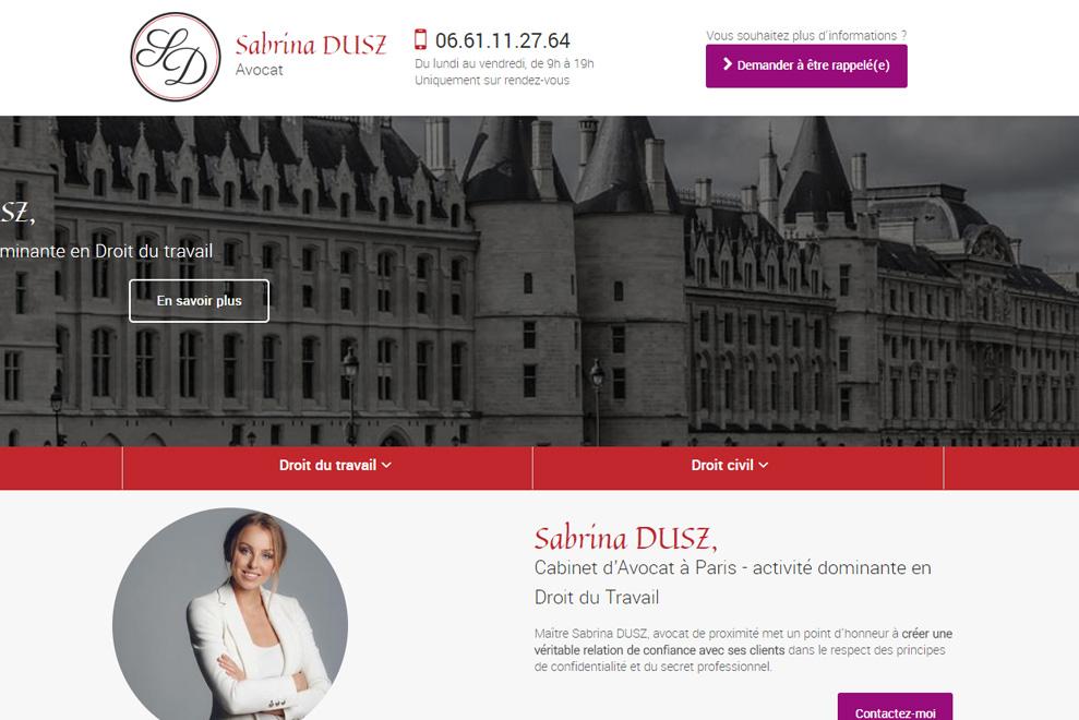 Me Sabrina Dusz, avocat droit du travail