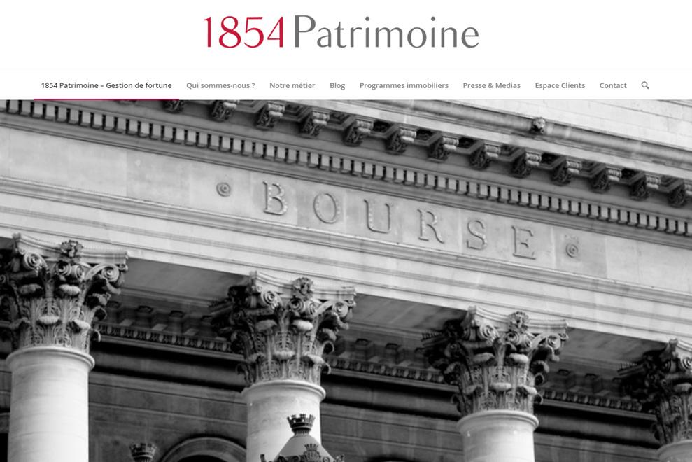 1854 Patrimoine, gestion de patrimoine