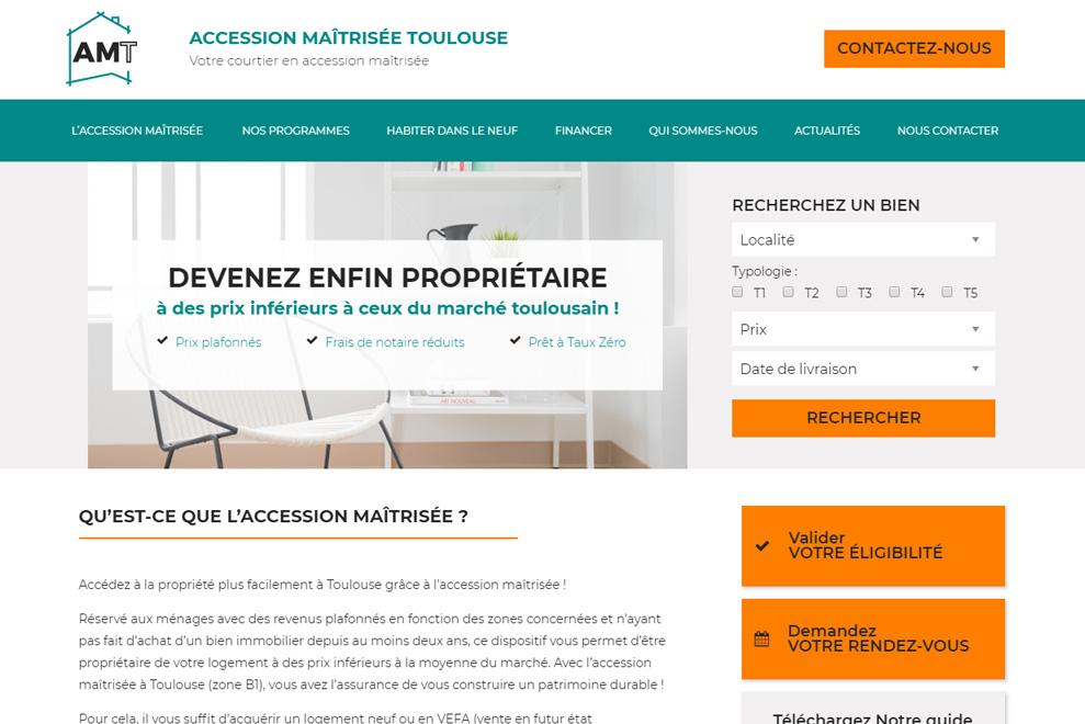 Accession maîtrisée Toulouse, courtier immobilier