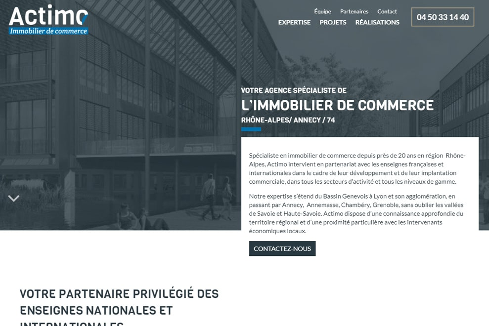 Actimo, immobilier de commerce
